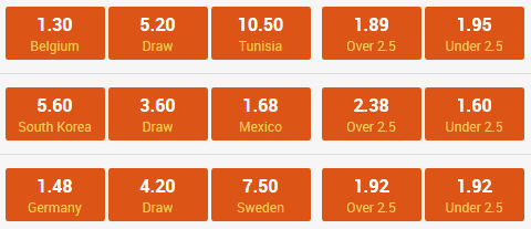 football odds 23 june